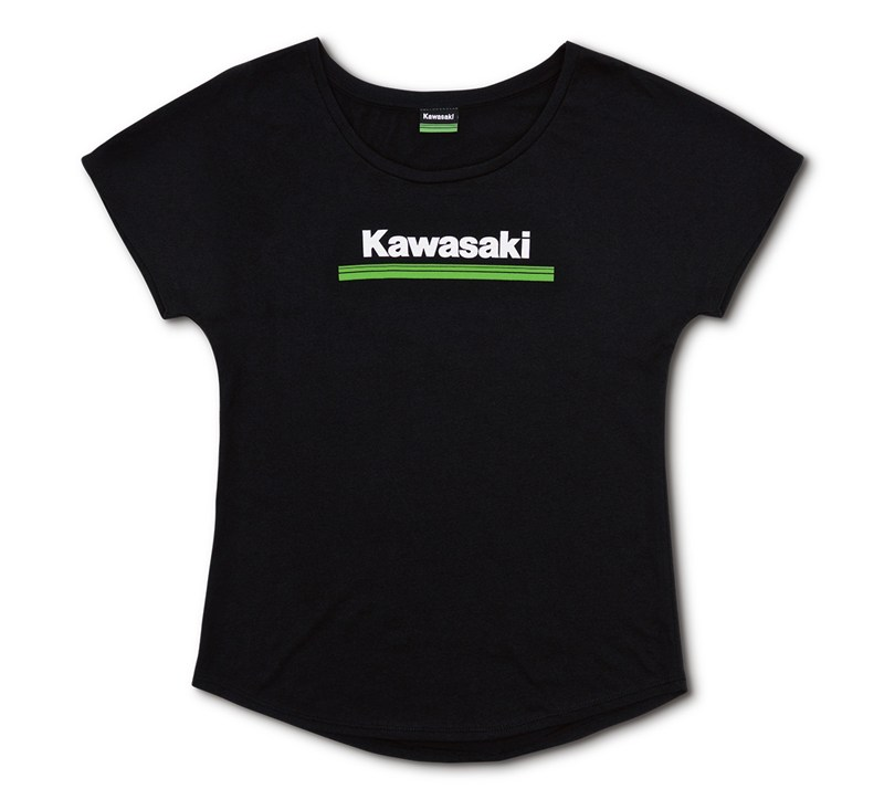 Women's Kawasaki 3 Green Lines Dolman Tee detail photo 3