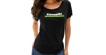 Women's Kawasaki 3 Green Lines Dolman Tee