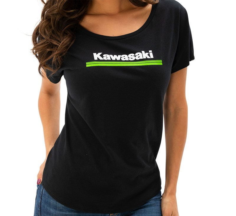Women's Kawasaki 3 Green Lines Dolman Tee detail photo 1