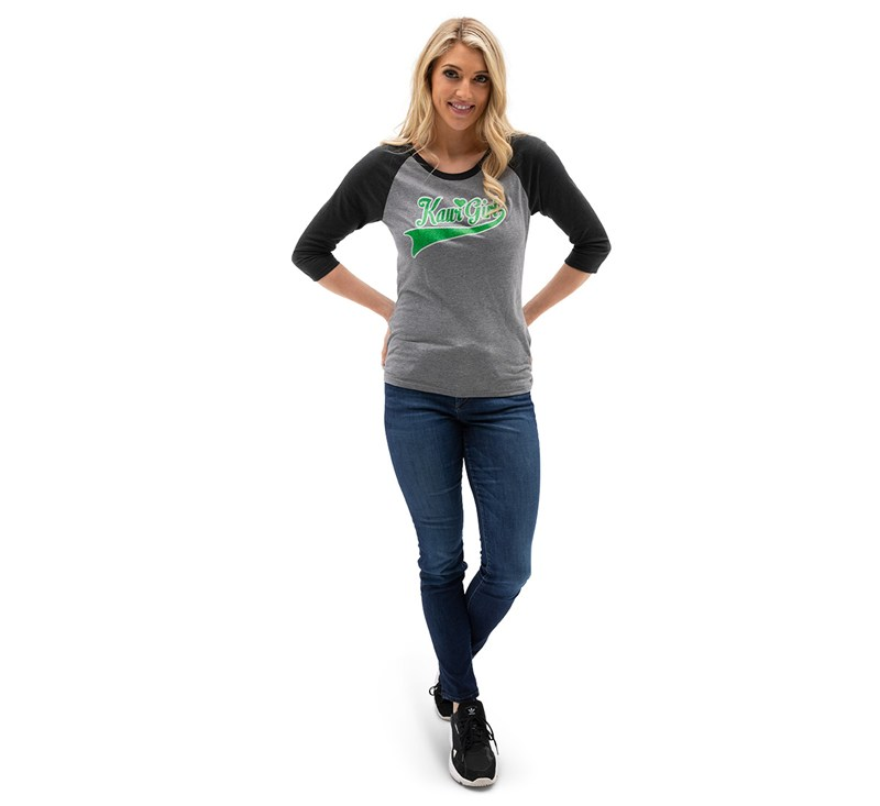 Women's Kawi Girl Raglan Tee detail photo 2