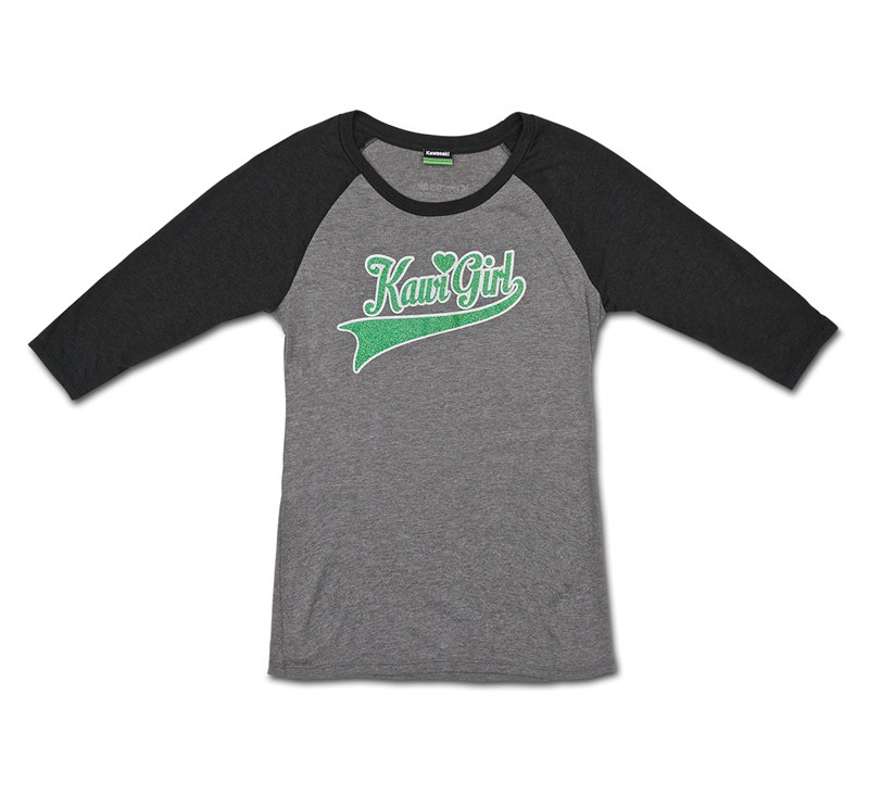 Women's Kawi Girl Raglan Tee detail photo 3
