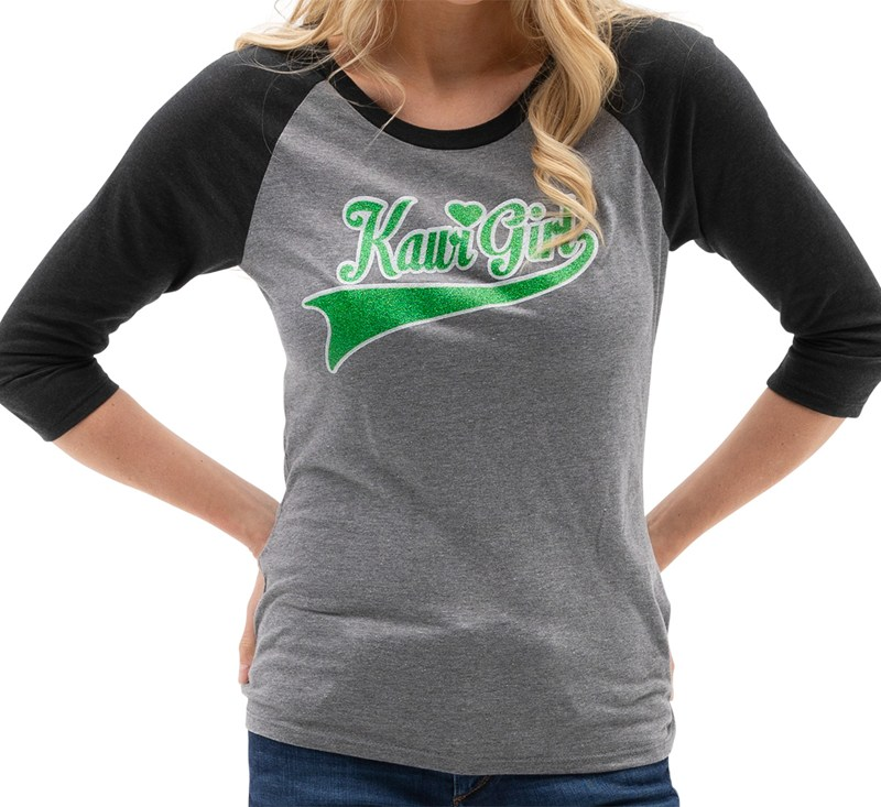 Women's Kawi Girl Raglan Tee detail photo 1