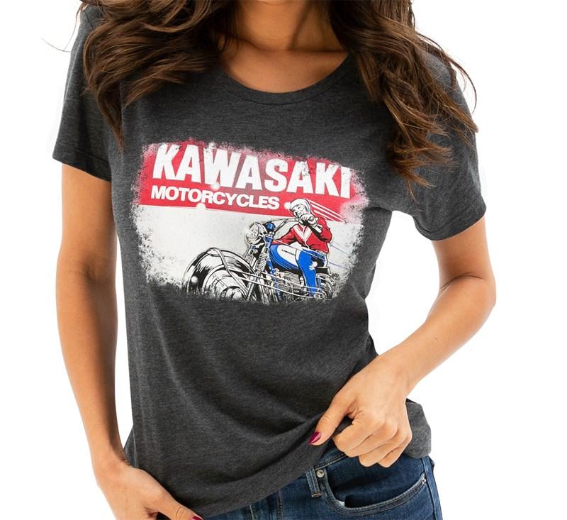 Women's Kawasaki Heritage Logo Old School Sign Tee detail photo 1