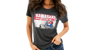 Women's Kawasaki Heritage Logo Old School Sign Tee