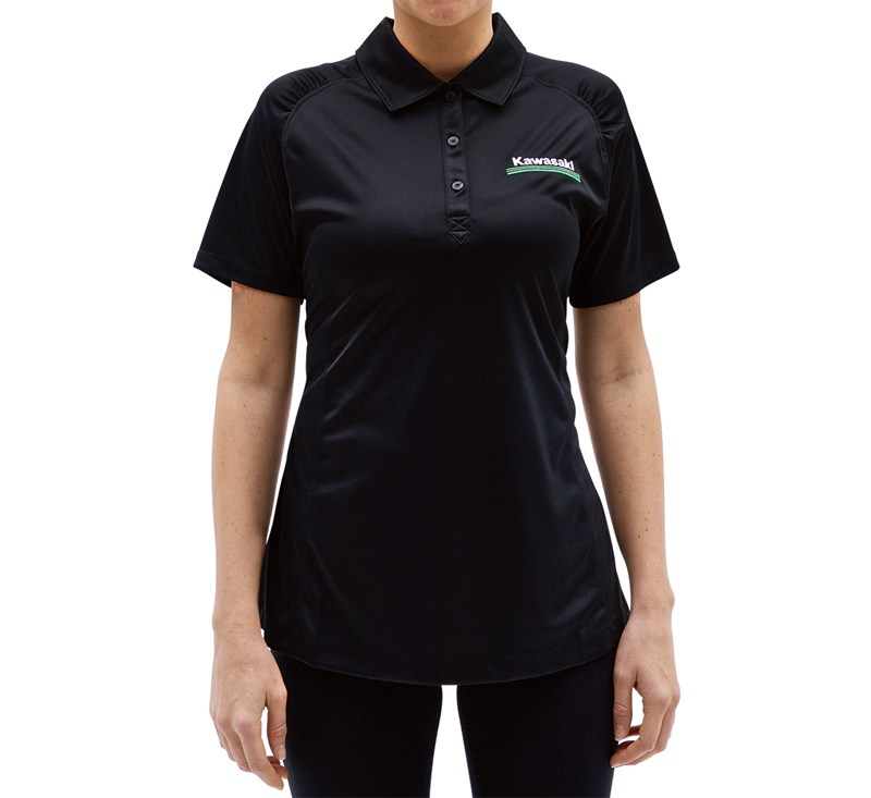 Women's Kawasaki 3 Green Lines DryTec Polo detail photo 3
