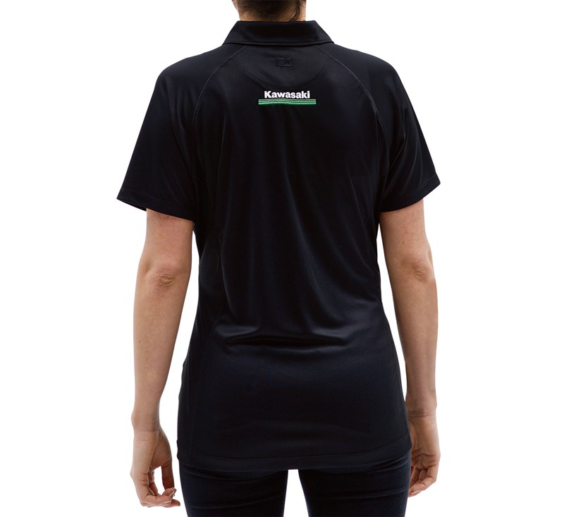 Women's Kawasaki 3 Green Lines DryTec Polo detail photo 4