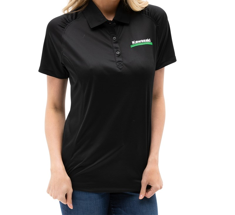 Women's Kawasaki 3 Green Lines DryTec Polo detail photo 1