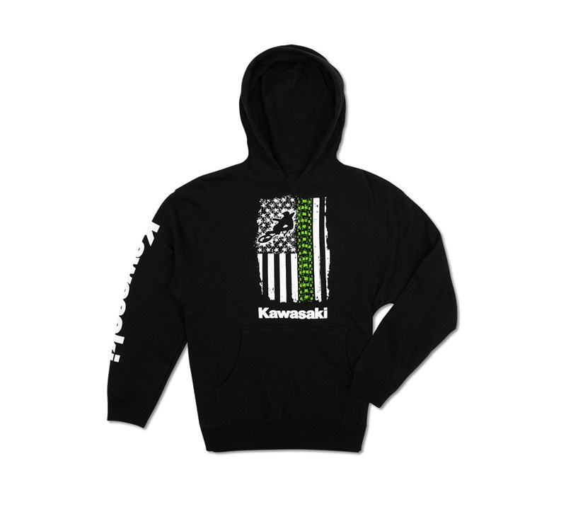 Youth Flag Pullover Hooded Sweatshirt detail photo 1