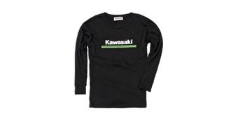 Youth Kawasaki 3 Green Lines Long Sleeve T-Shirt
