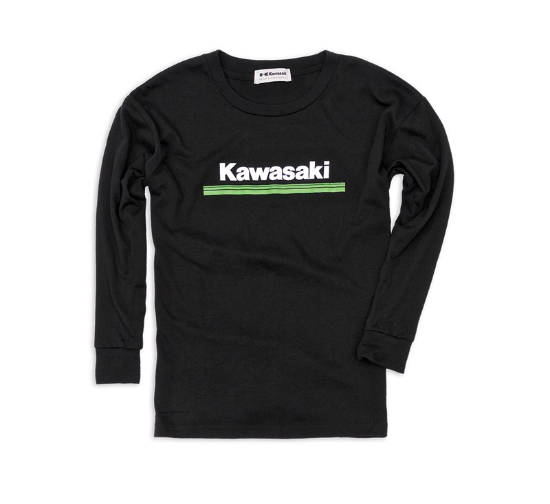 Youth Kawasaki 3 Green Lines Long Sleeve T-Shirt detail photo 1
