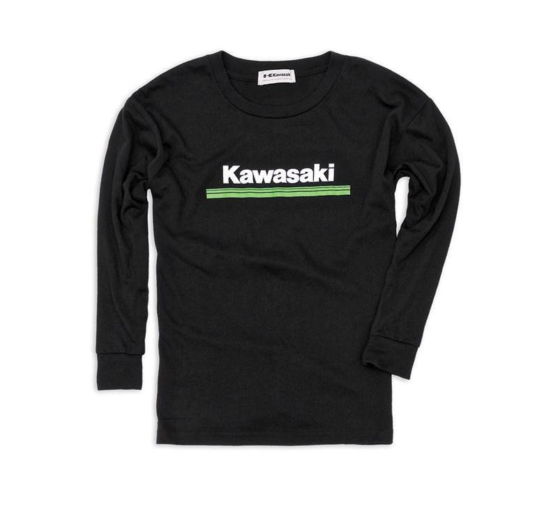 Youth Kawasaki 3 Green Lines Long Sleeve T-Shirt detail photo 1