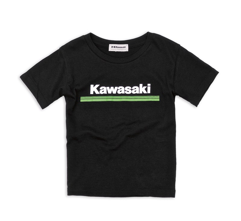 Youth Kawasaki 3 Green Lines T-Shirt detail photo 1