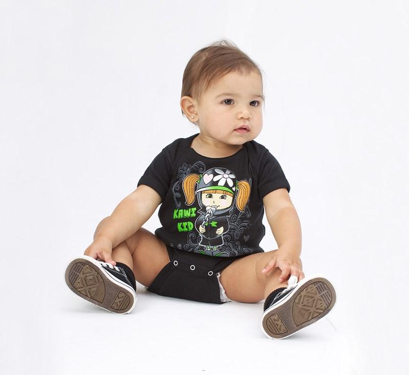 Girl's Infant Kawi Kid Onesie detail photo 2