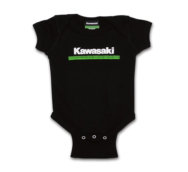 Infant Kawasaki 3 Green Lines Onesie detail photo 1