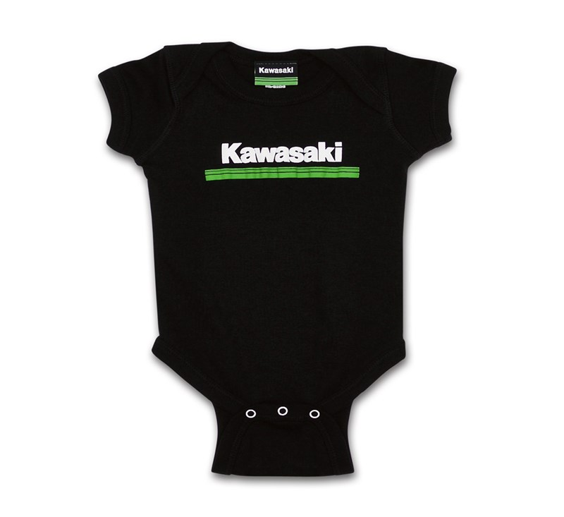 Infant Kawasaki 3 Green Lines Onesie detail photo 1