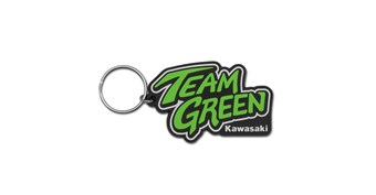 Team Green Rubber Keychain