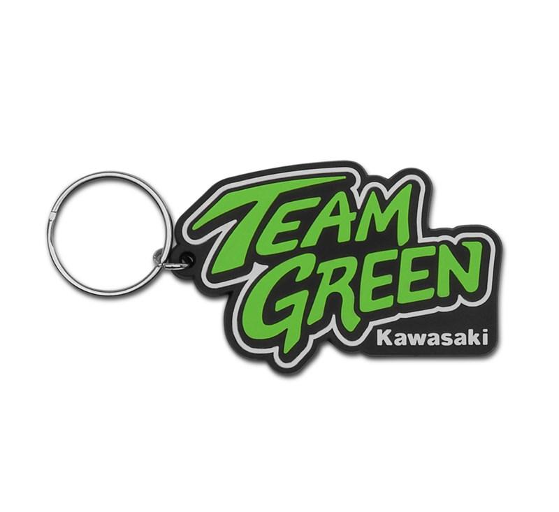 Team Green Rubber Keychain detail photo 1