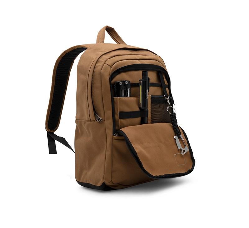 Kawasaki Carhartt® Canvas Backpack, Carhartt® Brown detail photo 3