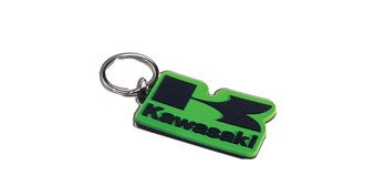 Rubber Stacked Logo Keychain