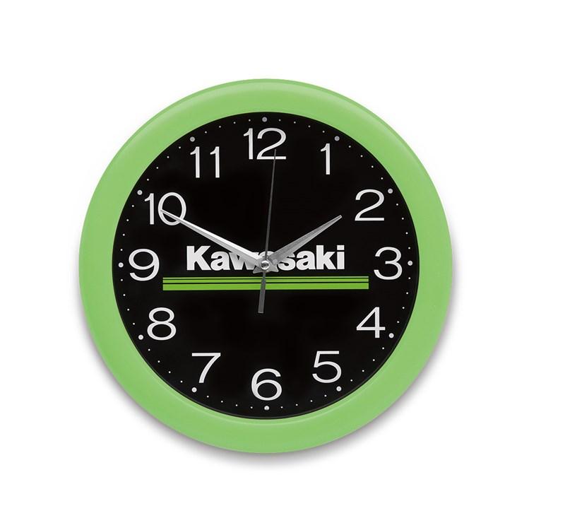 Kawasaki 3 Green Lines Wall Clock detail photo 1