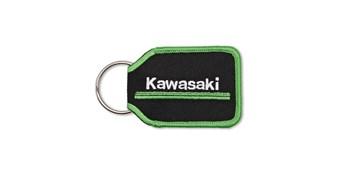 Kawasaki 3 Green Lines Woven Key Fob