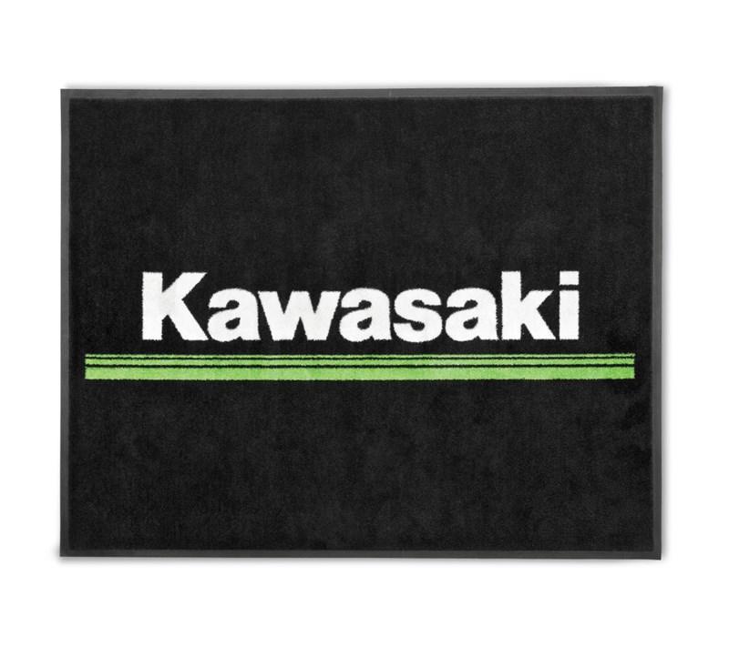 Kawasaki 3 Green Lines Floor Mat detail photo 1