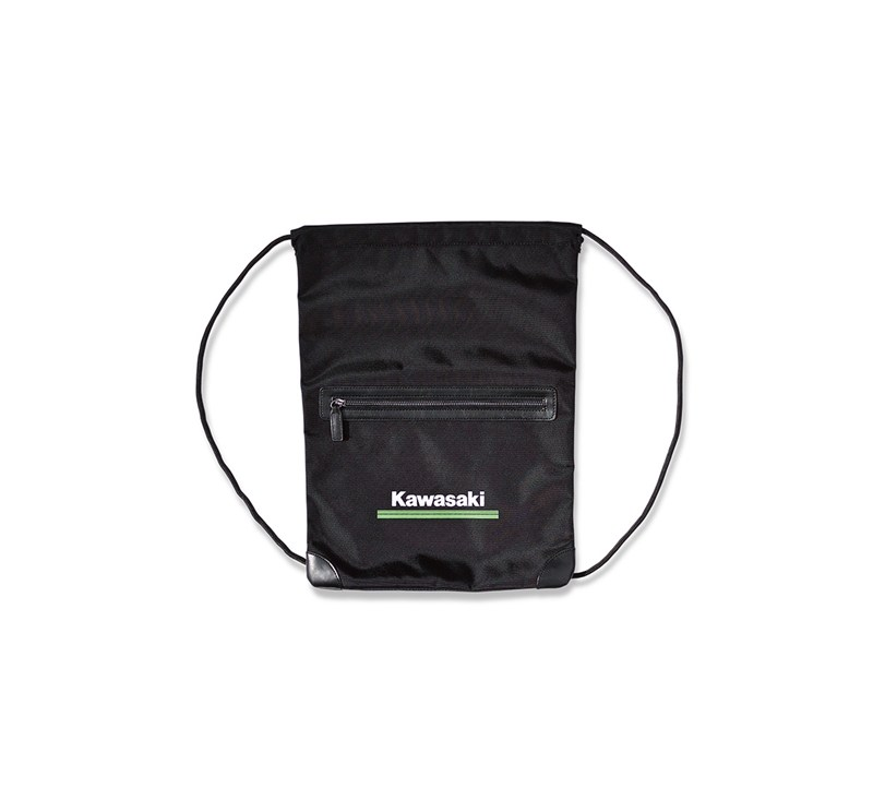 Kawasaki 3 Green Lines Drawstring Pocket Bag detail photo 1