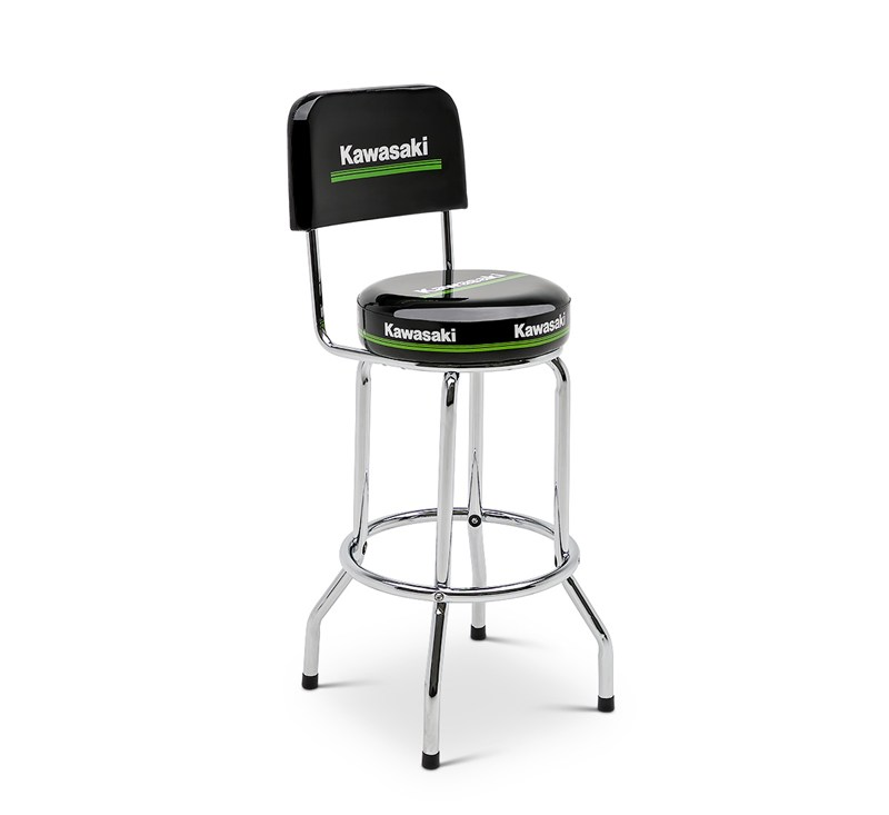 Kawasaki 3 Green Line Bar Stool with Backrest detail photo 1