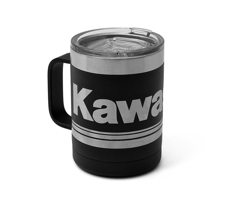 Kawasaki 3 Green Lines Stainless Steel Mug detail photo 1