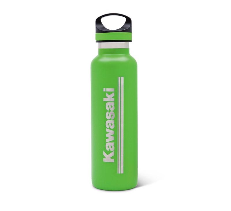 Kawasaki 3 Green Lines Stainless Steel Bottle detail photo 1