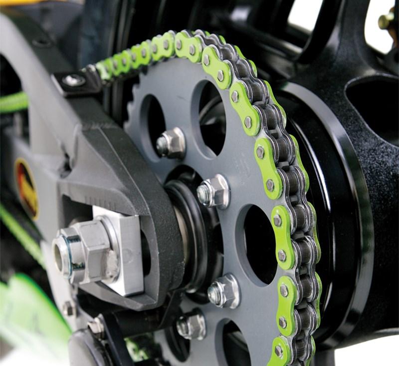 RK MXZ Green Racing Chain detail photo 1