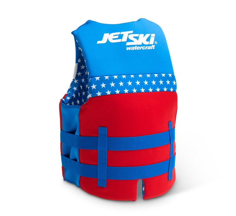 Jet Ski® Stars & Stripes Neoprene Vest detail photo 2