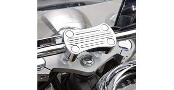 Billet Handlebar Clamp, Chrome
