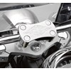 Billet Handlebar Clamp, Chrome Flame photo thumbnail 2