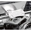 Billet Handlebar Clamp, Chrome Flame photo thumbnail 1