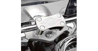 Billet Handlebar Clamp, Chrome Flame